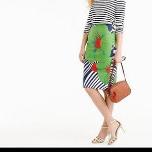 J. Crew Ratti Floral Striped Pencil Skirt size 12